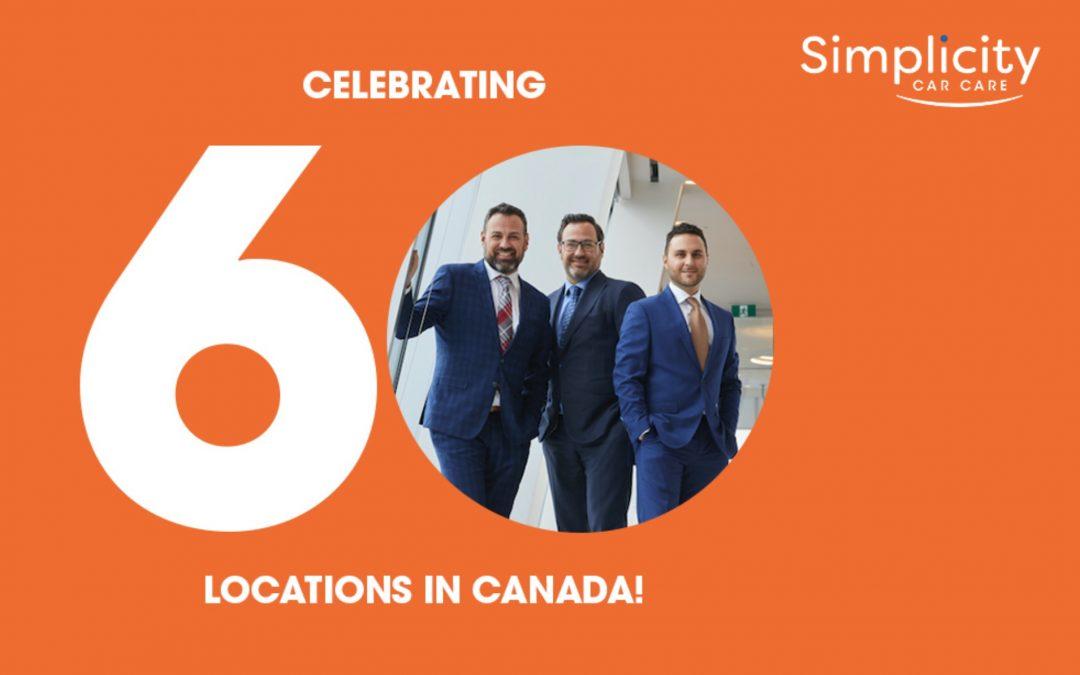 Simplicity Car Care Opens 60th Location in Canada