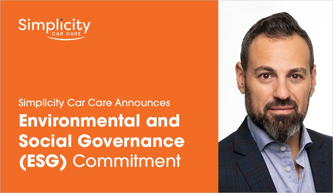Simplicity Car Care Announces Environmental And Social Governance (ESG) Commitment